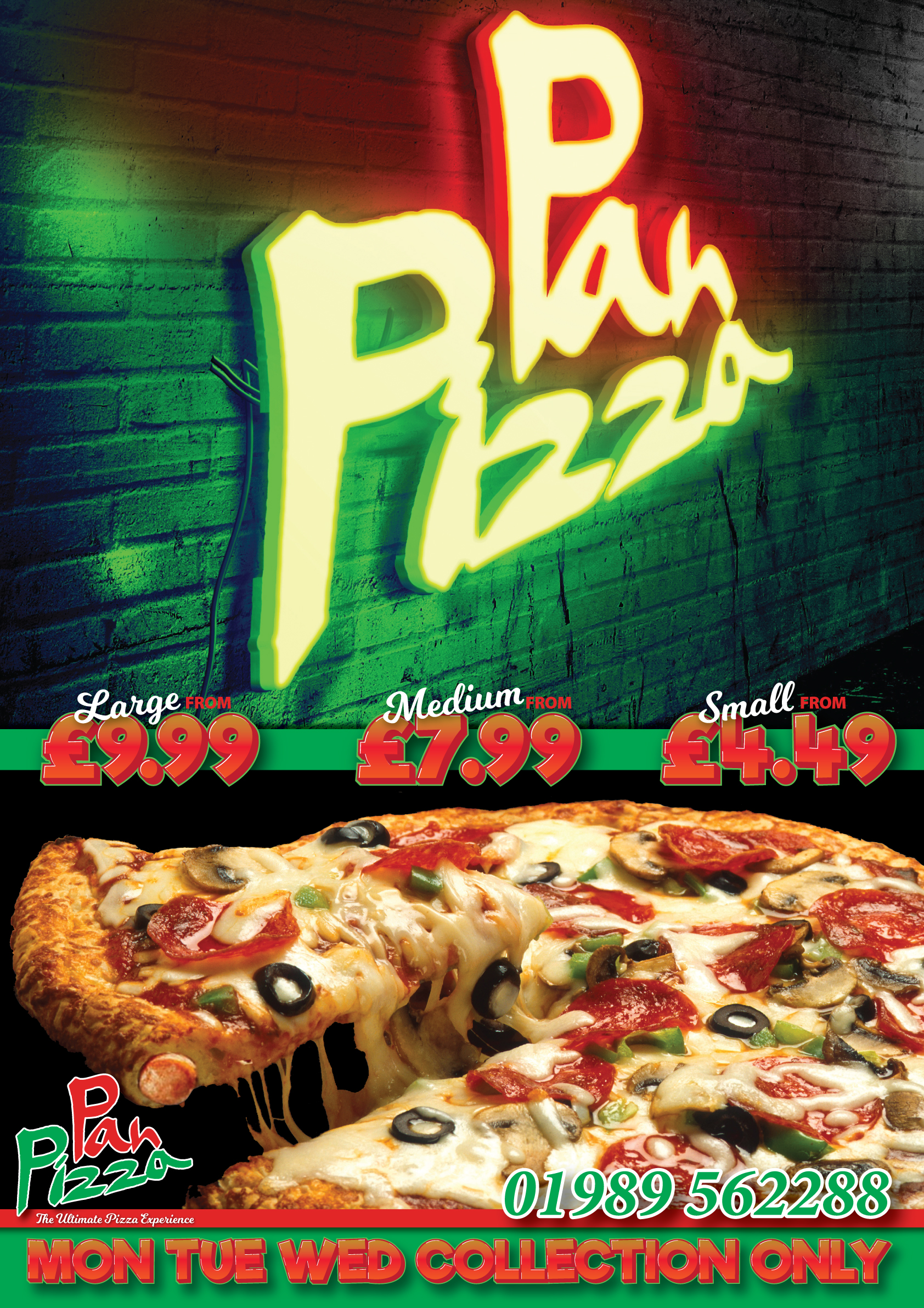 Pizza Offer - Pan Pizza Ross-on-Wye